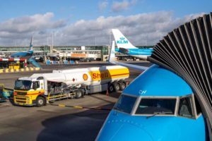 SHELL, KLM, Biocombustible