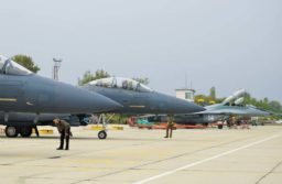 Bulgarian MIG-29s on the line with their US Air Force guests
